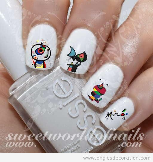 Déco ongles surréalistes Miró 2